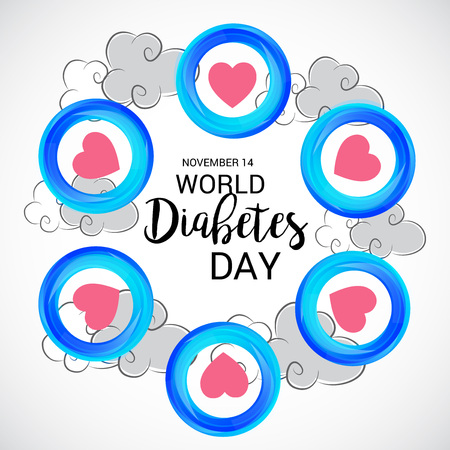 World Diabetes Day. Çizim