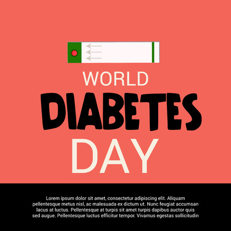 World Diabetes Day. 向量圖像