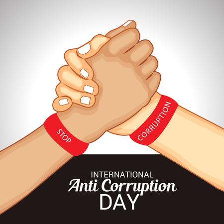 International Anti Corruption Day. Vectores