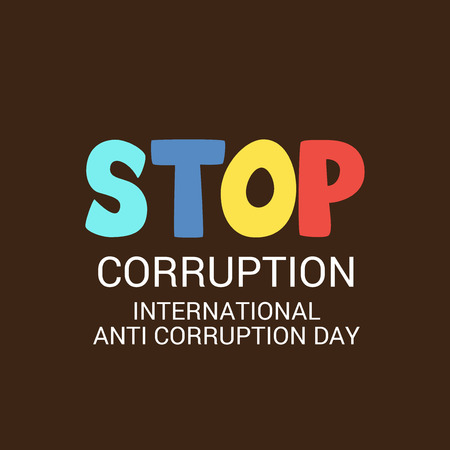 International Anti Corruption Day. 일러스트