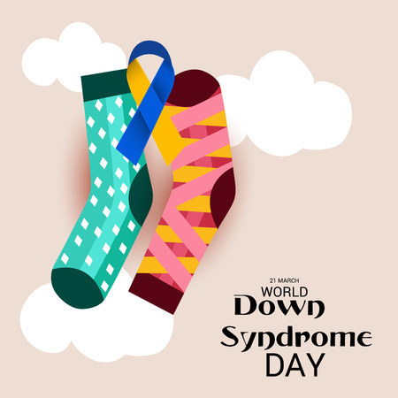 World Down Syndrome Day, awareness campaign poster design Illustration