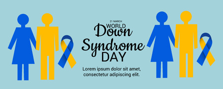 World Down Syndrome Day poster design. Vectores