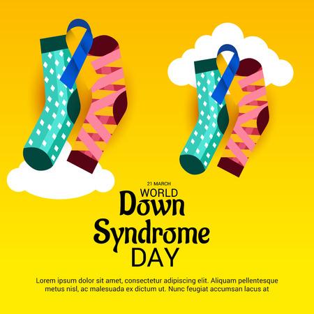 World Down Syndrome Day poster design. Çizim