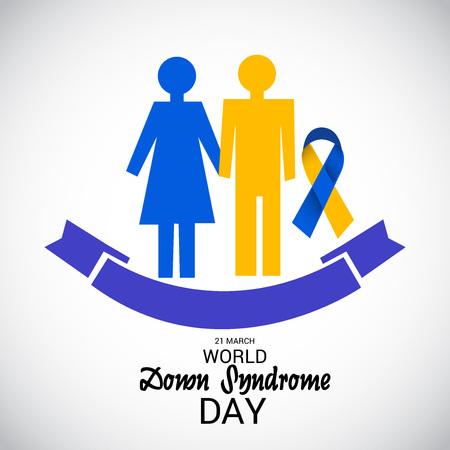 World Down Syndrome Day poster design. Illustration