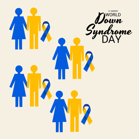World Down Syndrome Day poster design. Illustration