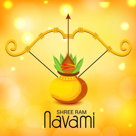 Happy Ram Navami vector illustration.