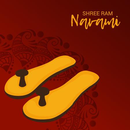 Glücklicher Ram Navami-Vektorillustration. Standard-Bild - 97507477
