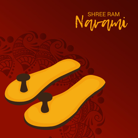 Happy Ram Navami vector illustration.
