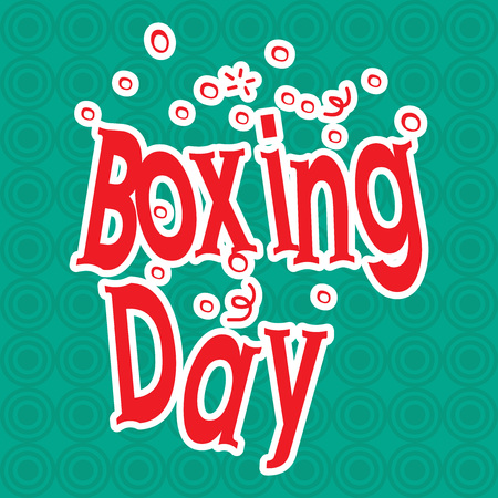 Boxing Day text vector illustration