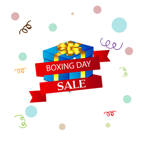 Boxing Day Sale vector illustration