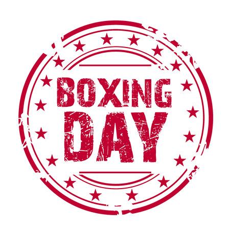 Boxing Day Sale label. Illusztráció