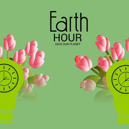 Earth Hour. Illustration