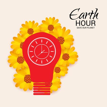 Earth Hour vector illustration