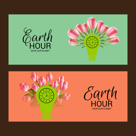 Earth Hour poster design.