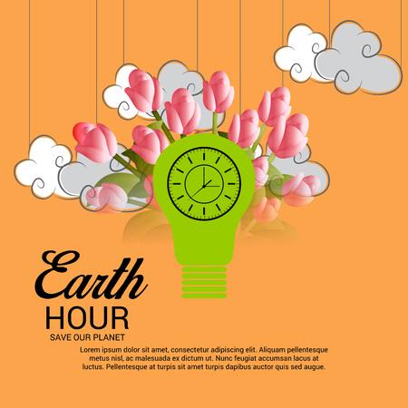 Earth Hour.  イラスト・ベクター素材