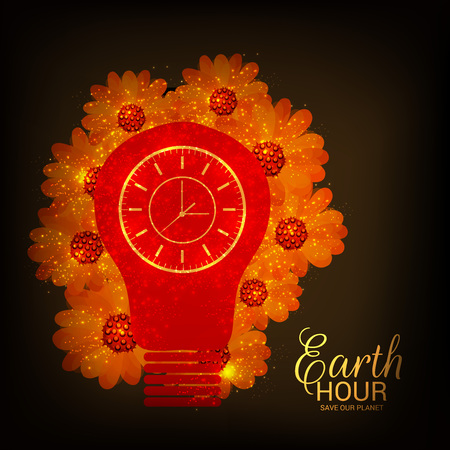 Earth Hour. Illustration