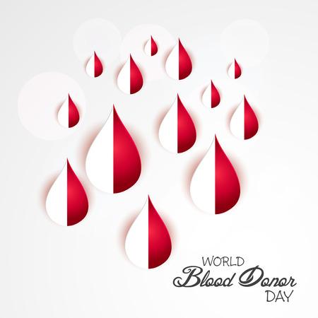 World Blood Donor Day. Illustration