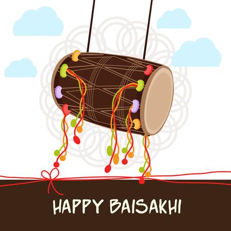 Happy Baisakhi. Illustration