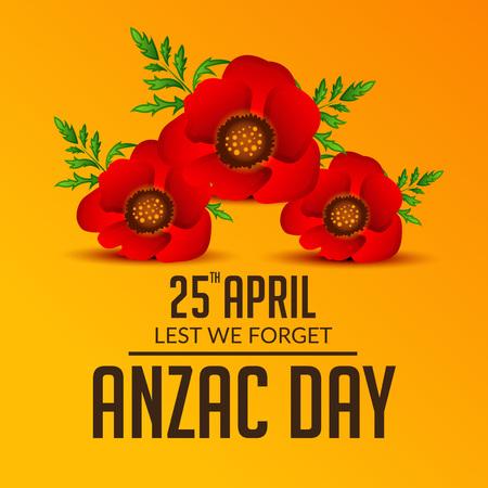 Anzac Day image illustration Ilustração