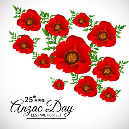 Anzac Day icon illustration
