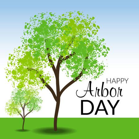Arbor Day icon illustration