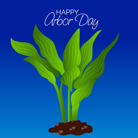 Arbor Day card design vector illustration Illustration