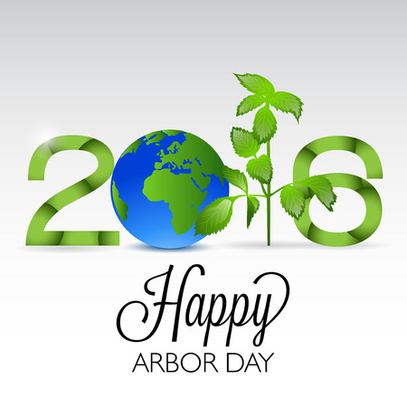 Arbor Day 2016 card design vector illustration Illustration