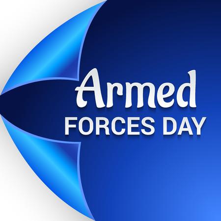 Armed Forces Day card design vector illustration