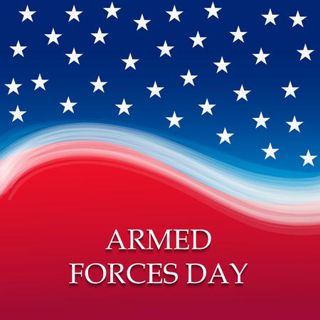 Armed Forces Day design vector illustration Çizim