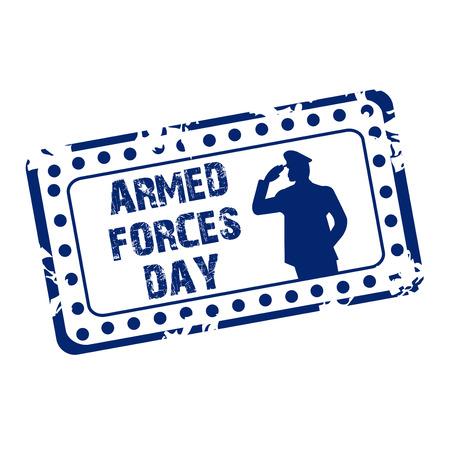Armed Forces Day stamp vector illustration design Çizim