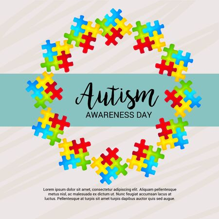 World autism awareness day colorful banner.