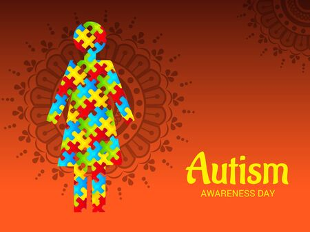 World autism awareness day. Illusztráció