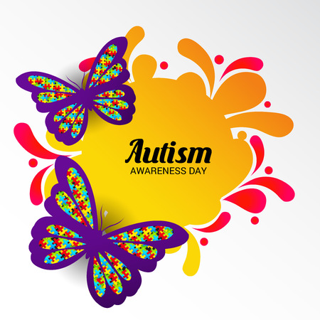 World autism awareness day. Illustration