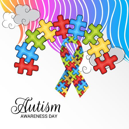 World autism awareness day. Illustration