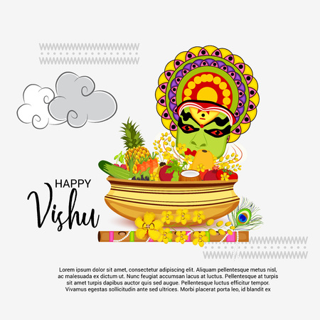 Happy Vishu. Illustration