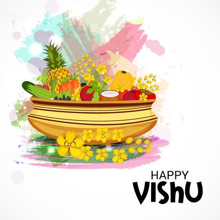 Happy Vishu isolated on plain background