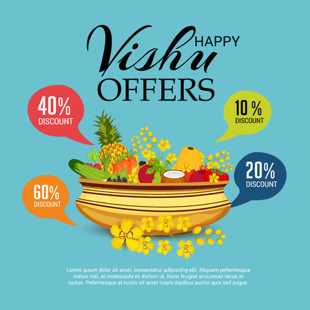 Happy Vishu sales offer with ornaments.