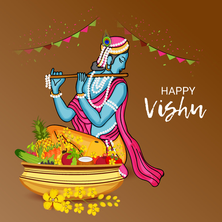 Happy Vishu with event ornaments.