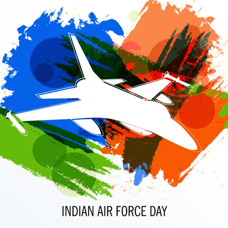 Indian AIr Force Day. Illustration