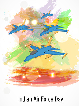 Indian AIr Force Day. Stock Illustratie