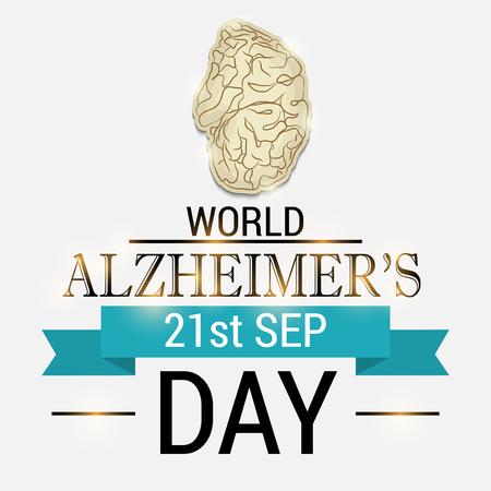 World Alzheimers Day poster design Illustration