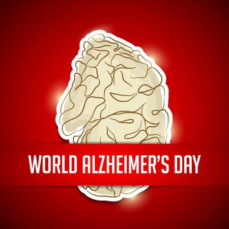 World Alzheimer's Day template design Stok Fotoğraf - 99162829