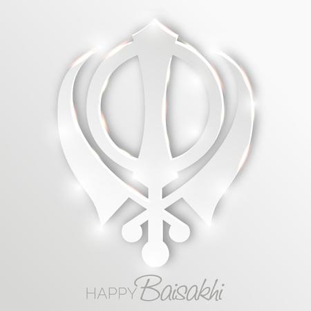 Happy Baisakhi template design Illustration