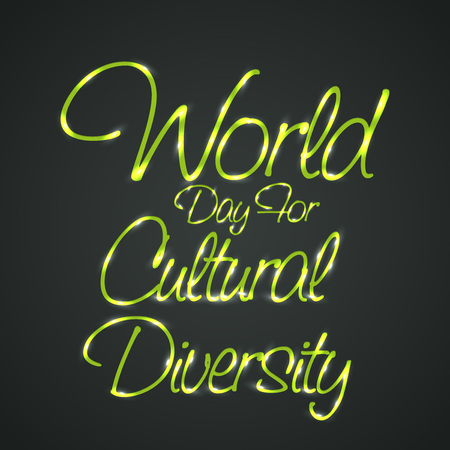 World Day for Cultural Diversity. Vettoriali