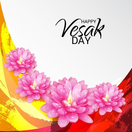 Glücklicher Vesak Tag Standard-Bild - 99854607