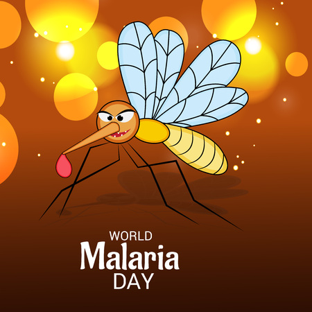 World Malaria Day poster Stock Illustratie