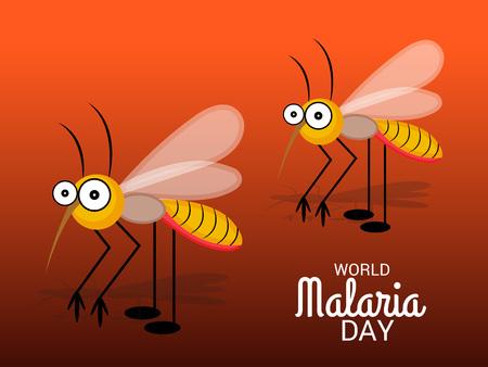 World Malaria Day illustration as awareness poster Illustration