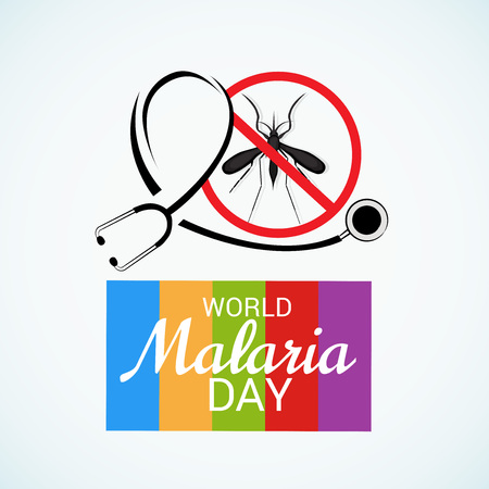 World Malaria Day awareness poster Illustration