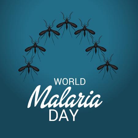 World Malaria Day blue poster