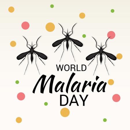 World Malaria Day awareness poster Illustration